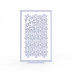 Freestanding Room Divider Facet - paleblue | Folding screens | Bloomming