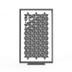 Freestanding Room Divider Facet - graphite | Raumteilsysteme | Bloomming