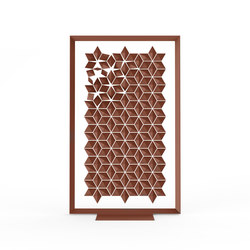 Freestanding Room Divider Facet - chestnut | Space dividers | Bloomming