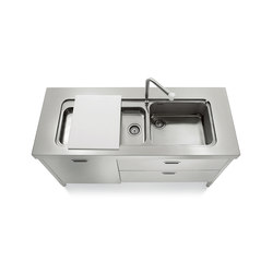 Sinks 160 Kitchens | Kitchen sinks | ALPES-INOX
