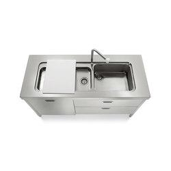 Fregadero Cocinas 160 | Fregaderos de cocina | ALPES-INOX