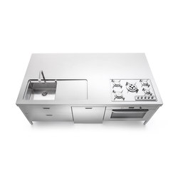Kitchen Islands 250 | Cuisines compactes | ALPES-INOX