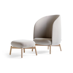 Easy Nest Chair with stool | Fauteuils d'attente | +Halle