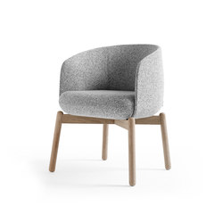 Low Nest Chair Wood | Sedie visitatori | +Halle