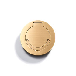 Floor Outlet Round | Water Resistant | American sockets | Meljac distributed by LVL-USA