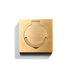 Floor Outlet Square | Water Resistant | American sockets | Meljac distributed by LVL-USA