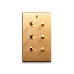 Keypad | 82 X 144 | 3 INV + 3 BP | interuttori a pulsante | Meljac distributed by LVL-USA