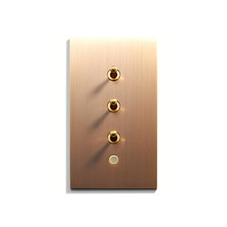 Keypad | 82 X 144 | 3 INV + VOY Q8 LED | Interruttori a leva | Meljac distributed by LVL-USA