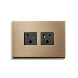 Wall Outlet Duplex | US-Norm | Meljac distributed by LVL-USA