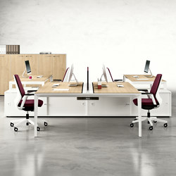 X5 | Systèmes de tables de bureau | Quadrifoglio Office Furniture