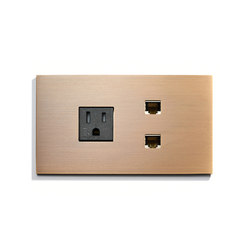 Specialty | USB + 2 Outlets | American sockets | Meljac distributed by LVL-USA
