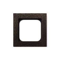 Frame 1-New Fer Forge Bronze | Socket outlets | Basalte