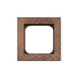Frame 1-New Fer Forge Rose | Socket outlets | Basalte