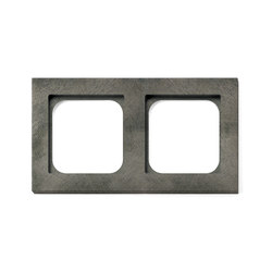 Frame 2-Fer Forge Grey | Socket outlets | Basalte