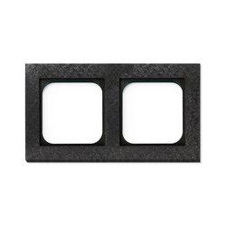 Frame 2-Fer Forge Gun Metal | Socket outlets | Basalte