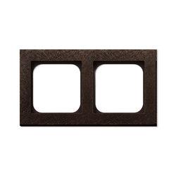 Frame 2-New Fer Forge Bronze | Socket outlets | Basalte