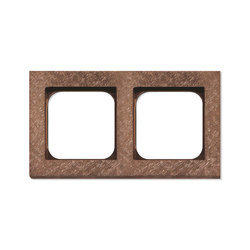 Frame 2-New Fer Forge Rose | Socket outlets | Basalte