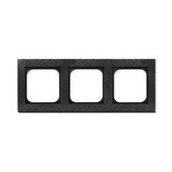 Frame 3-New Fer Forge Gun Metal | Socket outlets | Basalte