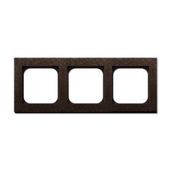 Frame 3-New Fer Forge Bronze | Socket outlets | Basalte