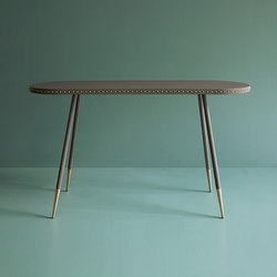 Stud leather console table | Tables consoles | Bethan Gray