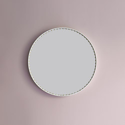 Stud leather mirror | Mirrors | Bethan Gray