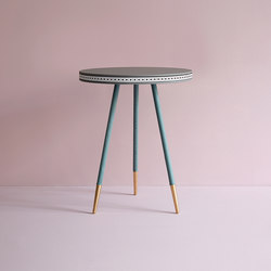 Brogue leather side table | Side tables | Bethan Gray