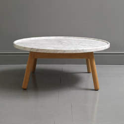 Carve marble round coffee table | Lounge tables | Bethan Gray