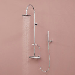 Aqua-Sense - Wall mounted round thermostatic shower column | Shower controls | Graff