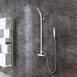 Aqua-Sense - Wall mounted square thermostatic shower column | Shower controls | Graff