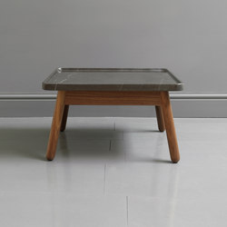 Carve marble small square coffee table | Mesas de centro | Bethan Gray