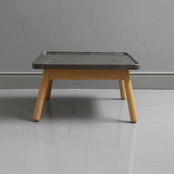 Carve marble small square coffee table | Lounge tables | Bethan Gray
