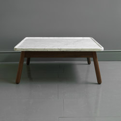 Carve marble large square coffee table | Lounge tables | Bethan Gray