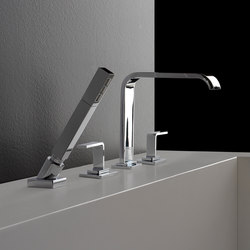 Immersion - Deck-mounted bathtub mixer with hand shower set | Bath taps | Graff