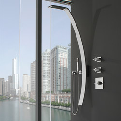 Luna - Wall-mounted shower column | Shower controls | Graff