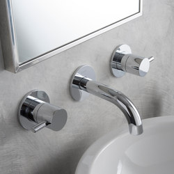 M.E. 25 - Wall-mounted basin mixer - exposed parts | Wash basin taps | Graff