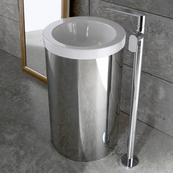 Phase - Floor-mounted washbasin spout | Grifería para lavabos | Graff