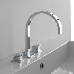 Qubic - Three-hole washbasin mixer | Wash basin taps | Graff