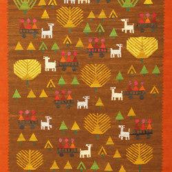 Whimsical Vintage Swedish Kilim Folk Art Rug | Tapis / Tapis design | Nazmiyal Rugs