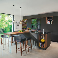 black line kitchen | Fitted kitchens | TEAM 7