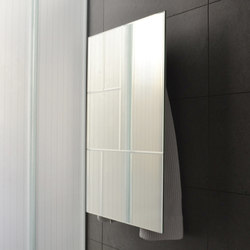Geometrici towel warmer rectangle mirror design 2 | Wall mirrors | mg12