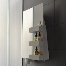 Geometrici towel warmer rectangle & shelves mirror | Wandspiegel | mg12