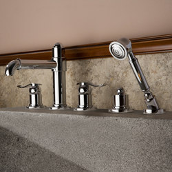 Bali - Deck-mounted bathtub mixer set | Bath taps | Graff