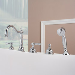 Canterbury - Deck-mounted bathtub mixer set | Bath taps | Graff