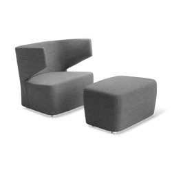 Flexi Club + Pouf | Lounge chairs | LD Seating