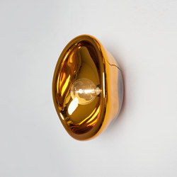 Aurum glass lamp gold | Wall lights | Tuttobene