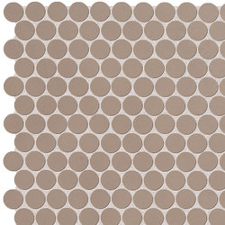 Color Now Fango Round Mosaico | Ceramic mosaics | Fap Ceramiche