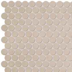 Color Now Tortora Round Mosaico | Mosaïques | Fap Ceramiche