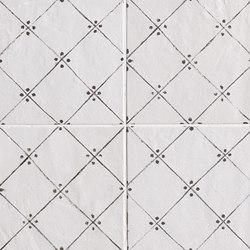 Firenze Heritage Maiolica Bianca Déco Antracite Gloss | Carrelage pour sol | Fap Ceramiche