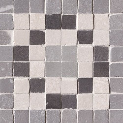 Firenze Heritage Decò Grigio Angolo Fascia Mosaico | Mosaïques | Fap Ceramiche