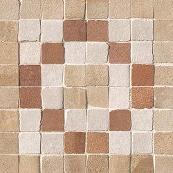 Firenze Heritage Decò Terra Angolo Fascia Mosaico | Ceramic mosaics | Fap Ceramiche